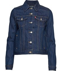 original trucker clean dark au jeansjack denimjack blauw levi´s women