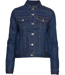 original trucker clean dark au jeansjack denimjack blauw levi´s women