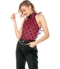 blusa morado-negro glamorous