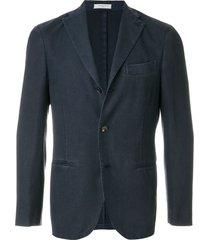 boglioli woven slim-fit jacket - blue