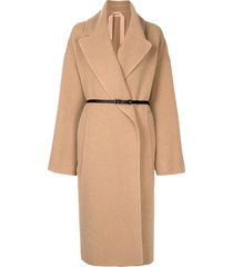 nº21 belted mid-length coat - neutrals