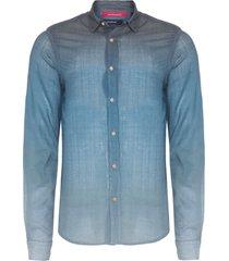 camisa masculina degradê mykonos - azul