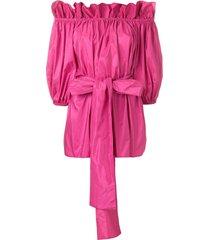 stella mccartney off-the-shoulder belted blouse - pink