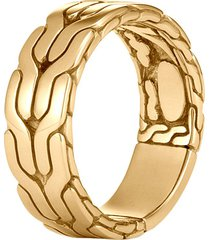 'classic chain' 18k gold ring