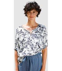 blus dress in marinblå::vit
