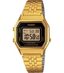 reloj casio la-680wga-1d de mujer-dorado