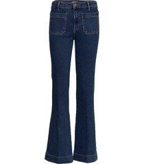 flare jeans utsvängda blå wrangler