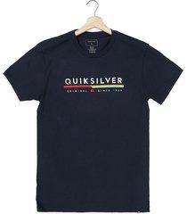 camiseta azul navy quiksilver retro lines mt0
