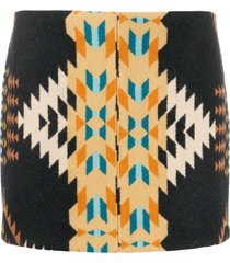 jessie western night weaver mini skirt - black