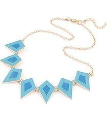 collar triangulos azul