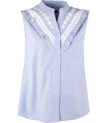 fracomina dames blouses blouses-korte-mouw lichtblauw