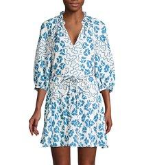 rebecca taylor women's perla petal silk dress - snow combo - size xs