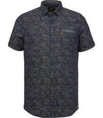 overhemd jaquard donkerblauw