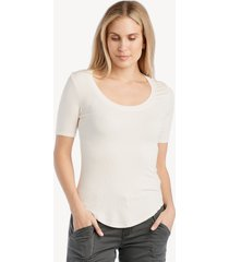 la made women's you half basic top in color: angel wing size large from sole society