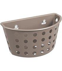 cesta com ventosas one 20,3x11,5cm warm gray