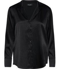 3176 - adal blouse lange mouwen zwart sand