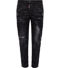 tidy biker jean jeans with raw edge