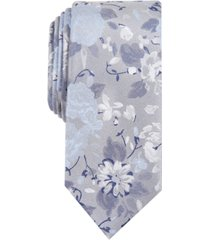 bar iii men's hilton floral skinny tie, created for macy's