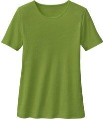biokatoenen shirt met ronde hals, kiwi 40