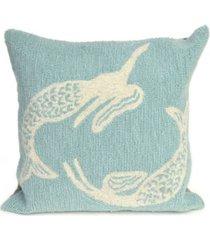 "liora manne frontporch mermaids indoor, outdoor pillow - 18"" square"