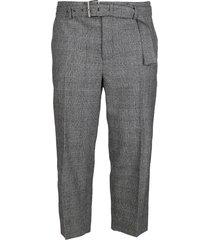 j.w. anderson grey wool blend trousers