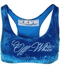 off-white off white velvet bra