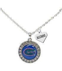 florida gators alumni charm silver crystal necklace jewelry uf