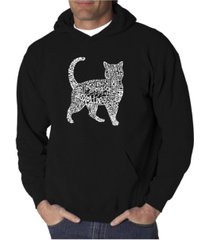 la pop art men's word art hooded sweatshirt - cat