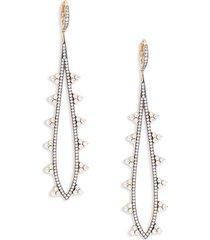 adriana orsini women's goldplated, black rhodium-plated sterling silver & crystal drop earrings