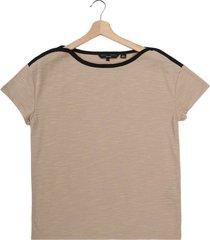 camiseta beige oscuro vero moda
