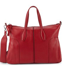 bauletto piccolo textured leather crossbody bag