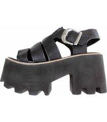 sandalia negra duo bai