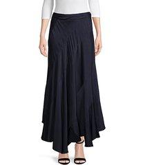asymmetrical maxi skirt