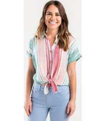 breonna striped button top - multi