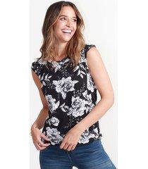 camiseta para mujer en poliester multicolor color-multicolor-talla-xl