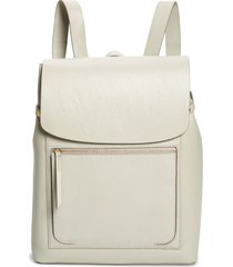 nordstrom ballard calfskin leather backpack - grey