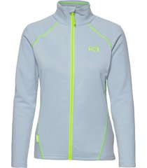 kari f/z fleece sweat-shirts & hoodies fleeces & midlayers blå kari traa