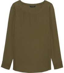 blusa rew high low tee solids verde banana republic