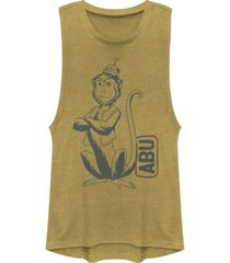 disney juniors' aladdin abu side kick pocket festival muscle tank top