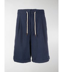 brunello cucinelli drawstring knee-length shorts