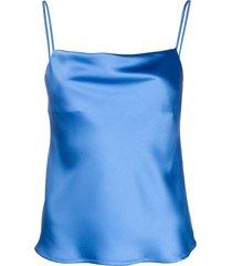 blanca vita spaghetti strap vest - blue