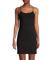 saks fifth avenue women's essential fit camisole slip dress - nude - size m