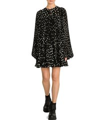 scattered polka dot babydoll dress