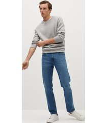 donkere bob straight-fit jeans