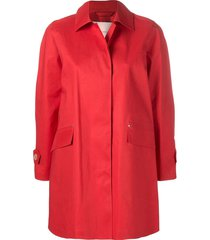 mackintosh berry red bonded cotton coat lr-094