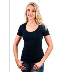 garage women t-shirt round neck navy ( art 0701)