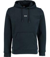 hugo boss hoodie weedo donkerblauw rf 50449517/404