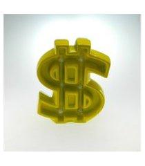 cifráo para parede de cerâmica c/ luzes led amarelo