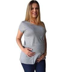 blusa calupa amamentação gestante abertura sobreposta feminina - feminino