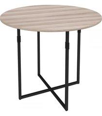 mesa de madeira liz carvalho/preto - novabras